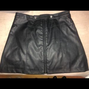 Abercrombie leather skirt